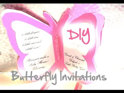 DIY Baby ShowerWedding Butterfly Invitations YouTube – Wedding Butterfly Invitations