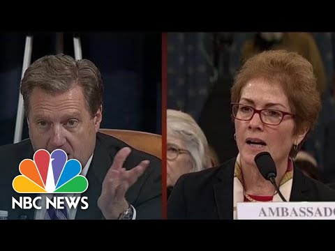 'You're Done': Rep. Turner Interrupts Yovanovitch While Answering His Question | NBC News