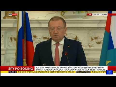 Salisbury attack: Russian ambassador points finger at UK govt in astonishing speech