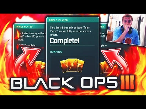 "100 WINS ""TRIPLE PLAY"" CONTRACT COMPLETE! Black Ops 3 ""FREE DLC WEAPON"" Contract COMPLETED! (BO3)"