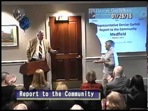 State Rep. Denise Garlick's Medfield Town Report (1-28-2016)