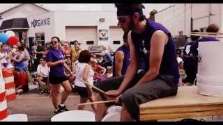 """Solo Round Robin"" - DRAW (Disaster Relief at Work) Bucket Drumline - July 4th Parade, Clarkston, MI"