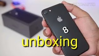 Unboxing iphone 8 and review!!!!