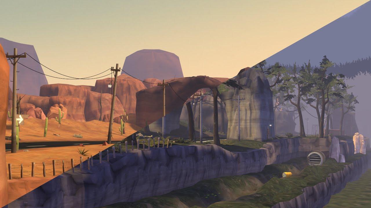 SFM forest and desert map