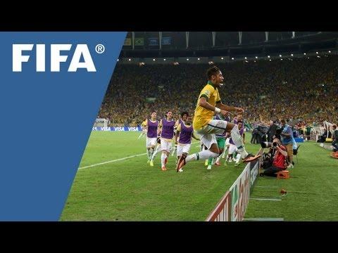 Neymar, Brazil set down World Cup marker