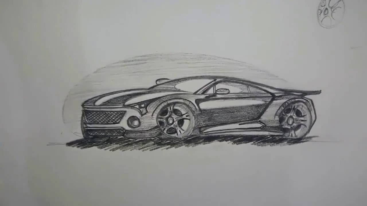 How to draw and shade super cars part 3 youtube