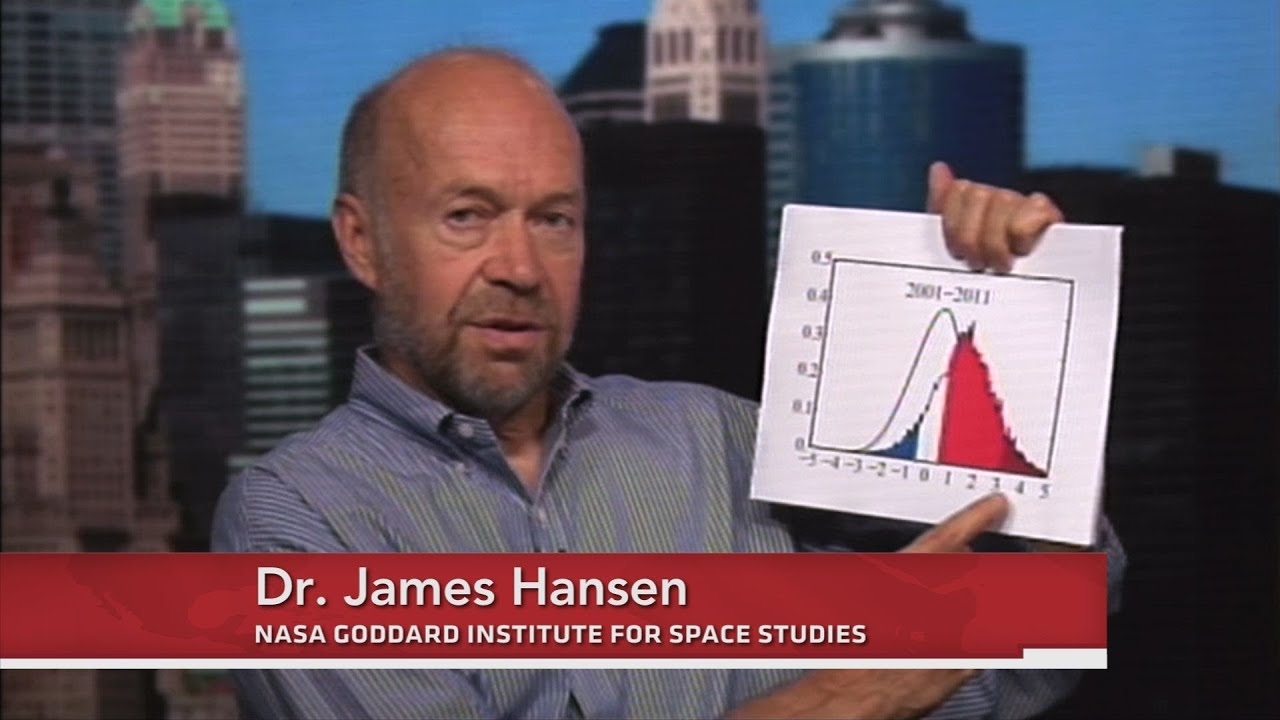 James Hansen: Extreme Heat Events Connected to Climate Change - YouTube