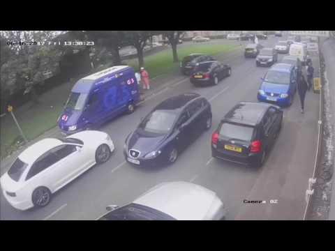Bradford robbery security van money stolen Uk England thieves in car