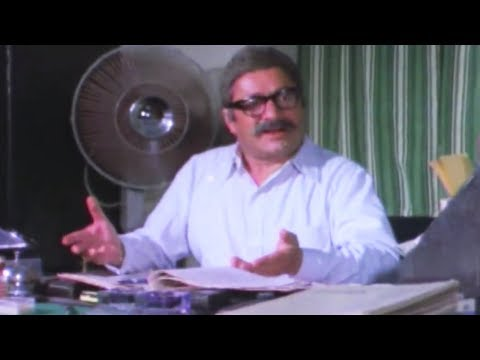 Saeed Jaffrey Saves His CoWorker From Getting Fired Asambhav 1984   210