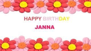 Janna   Birthday Postcards & Postales - Happy Birthday