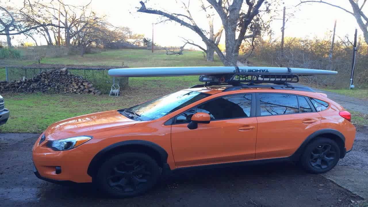 Dakine 28 Aero Long Black Surfboard Sup Kayak Roof Car Suv