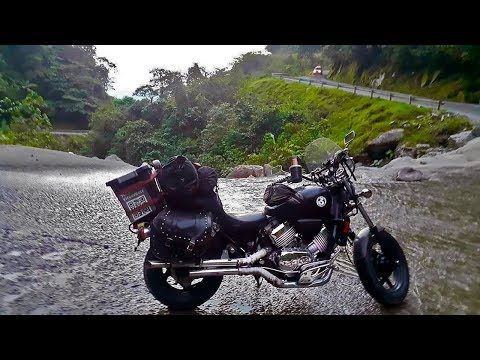 South America on a motorcycle - landscapes of Colombia.