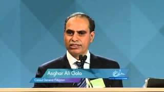 Consul General of Pakistan Asghar Ali Golo at Ahmadiyya Convention Canada 2014