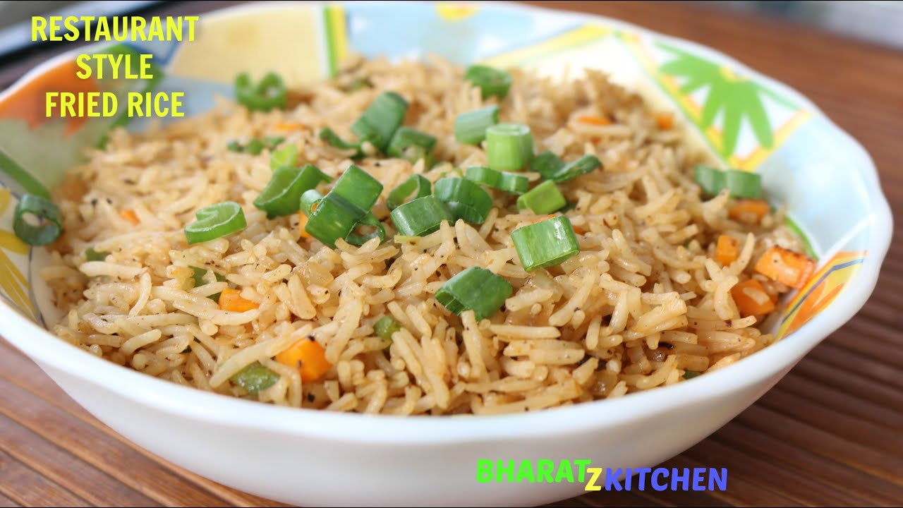 Restaurant style vegetable fried rice veg fried rice chinese restaurant style vegetable fried rice veg fried rice chinese fried rice recipe bharatzkitchen youtube ccuart