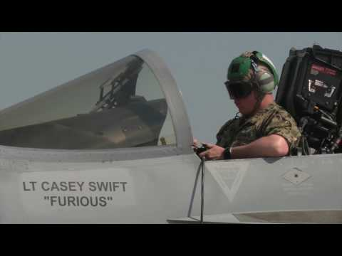 Electronic Attack Squadron-132 brings EA-18G Growler to the Pacific (B-Roll)