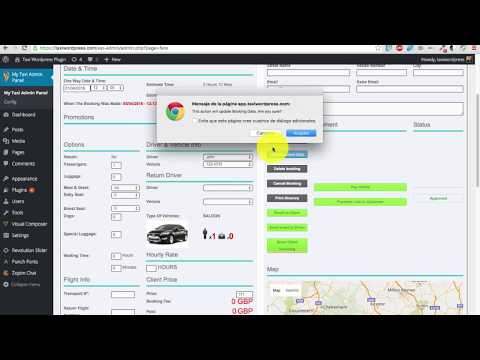 Overview Taxi wordpress Plugin