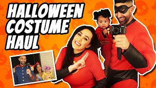 Trying On Halloween Costumes (Baby's First Time) | Dhar and Laura