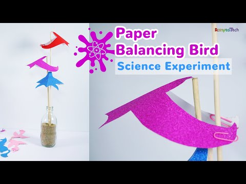 How to Make a Paper Balancing Bird?