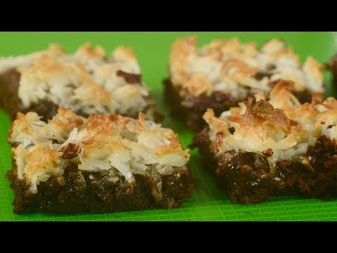 Coconut Macaroon Brownies Recipe Demonstration - Joyofbaking.com