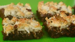 Coconut Macaroon Brownies Recipe Demonstration - Joyofbaking.com