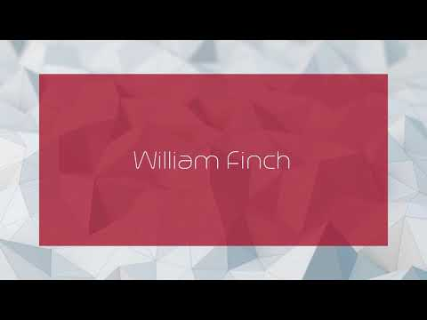 William Finch - appearance