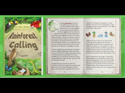 'Rainforest Calling' Twinkl Originals Extract