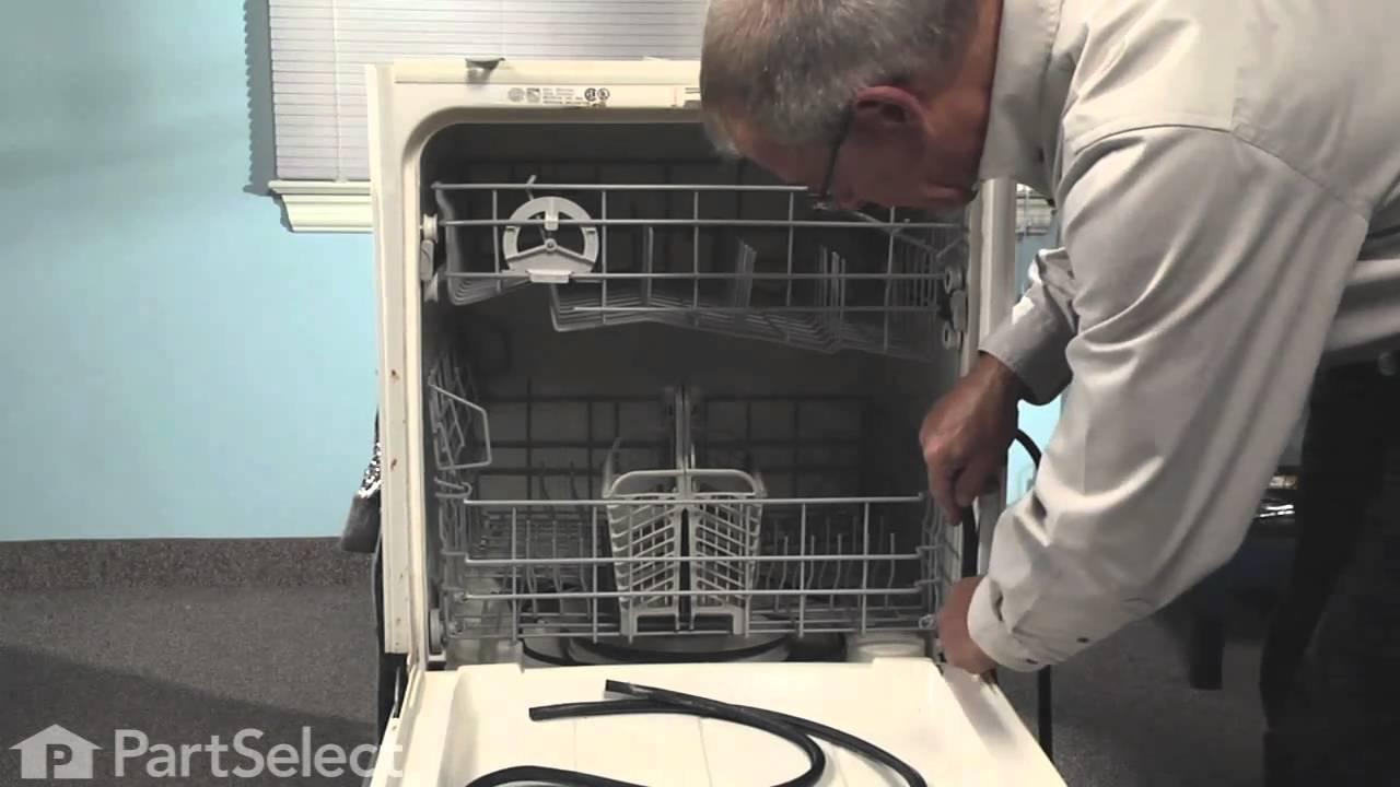 Dishwasher Repair Replacing the Door Gasket Whirlpool