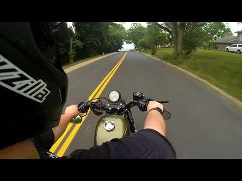 Riding Through Peoria Heights Illinois on my 2017 Iron 883