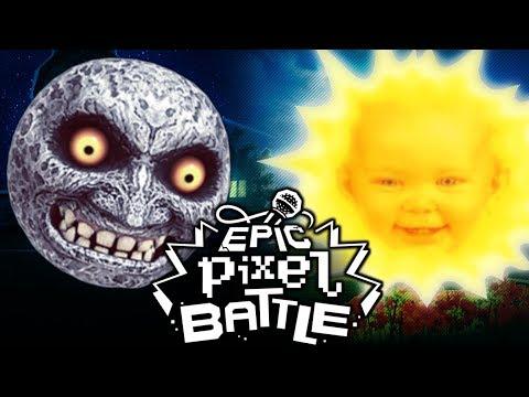 La lune zelda majora 39 s mask vs le soleil t l tubbies epic pixel battle bonus youtube - Soleil teletubbies ...