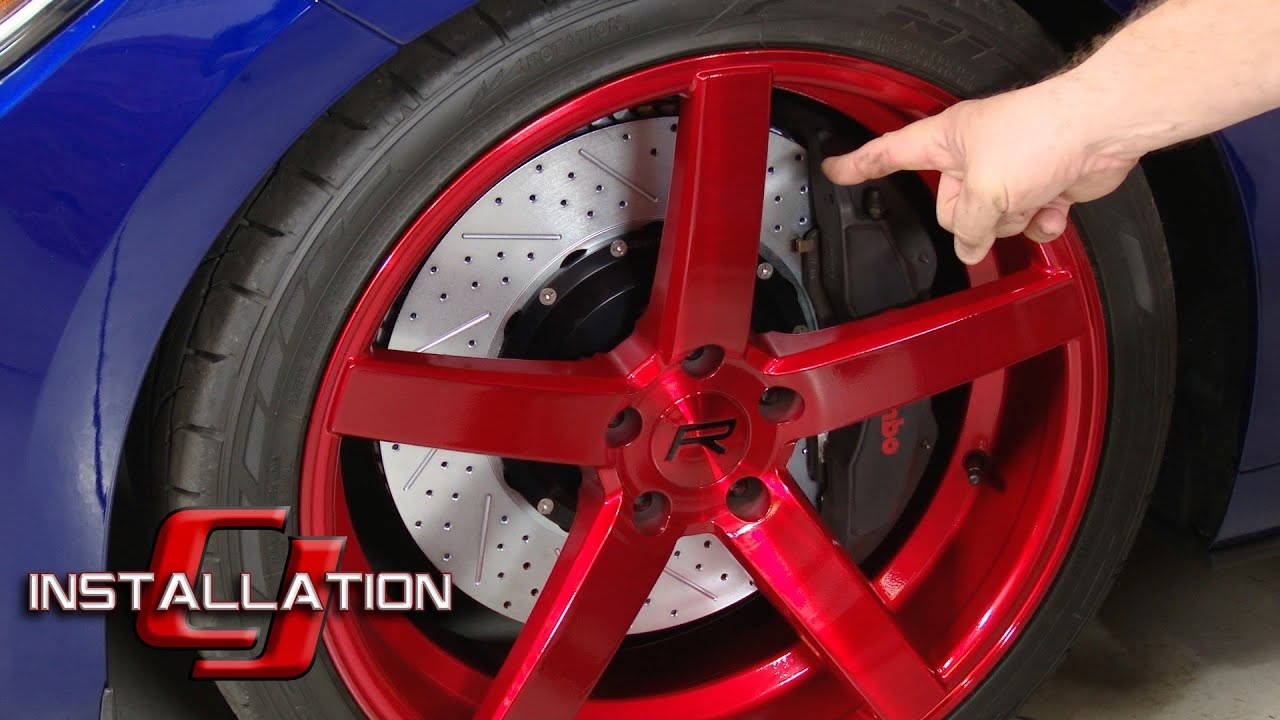 "2015-2019 Mustang Performance Pack GT Baer 15"" Eradispeed-Plus Front Brake Rotors Installation ..."