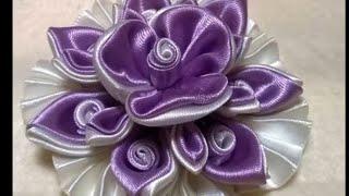 Como fazer Flor de Tecido Cetim – LINDA