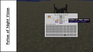 How to make/brew a potion of night vision - Minecraft 1.10.2 - 1.10