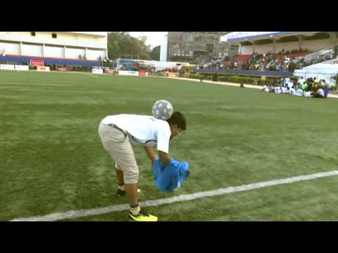 Tejas Football Freestyle at Bangalore Stadium for Unity World Cup