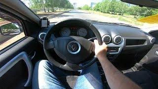 2013 Renault Logan 1.6L POV Test Drive