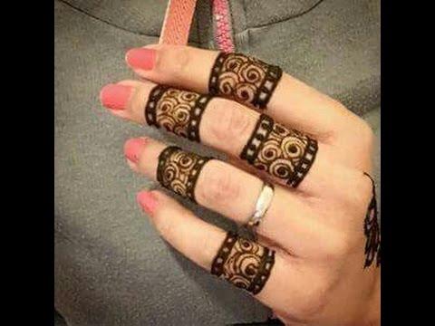 Fingers Mehndi Pics : Fingers design mehandi youtube