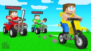 HUNTERS VS SPEEDRUNNER With CARS In Minecraft!
