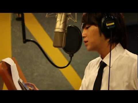 Jang Keun Suk recording Love Rain in Recording Room LOVE RAIN OST