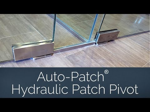 Auto-Patch® Hydraulic Patch Pivot for Commercial Glass Door Applications