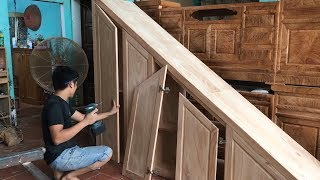 How to make cabinets under the stairs