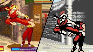 How does Gameboy Color compare to Arcade? SFA Combo/Special/Super Comparison