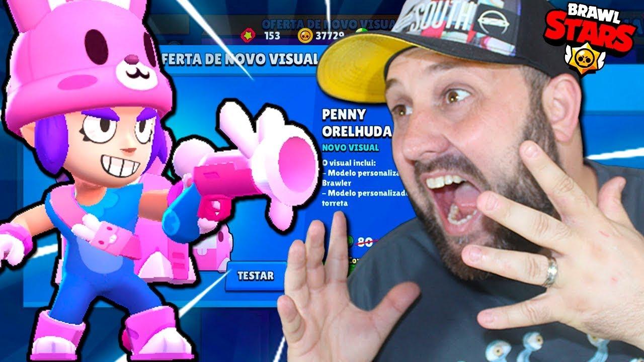 BRUNO CLASH - COMO TESTAR A PENNY COELHINHA E VIRAR MONSTRÃO NO BRAWL STARS!!