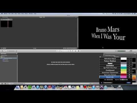iMOVIE - Create a lyrics video