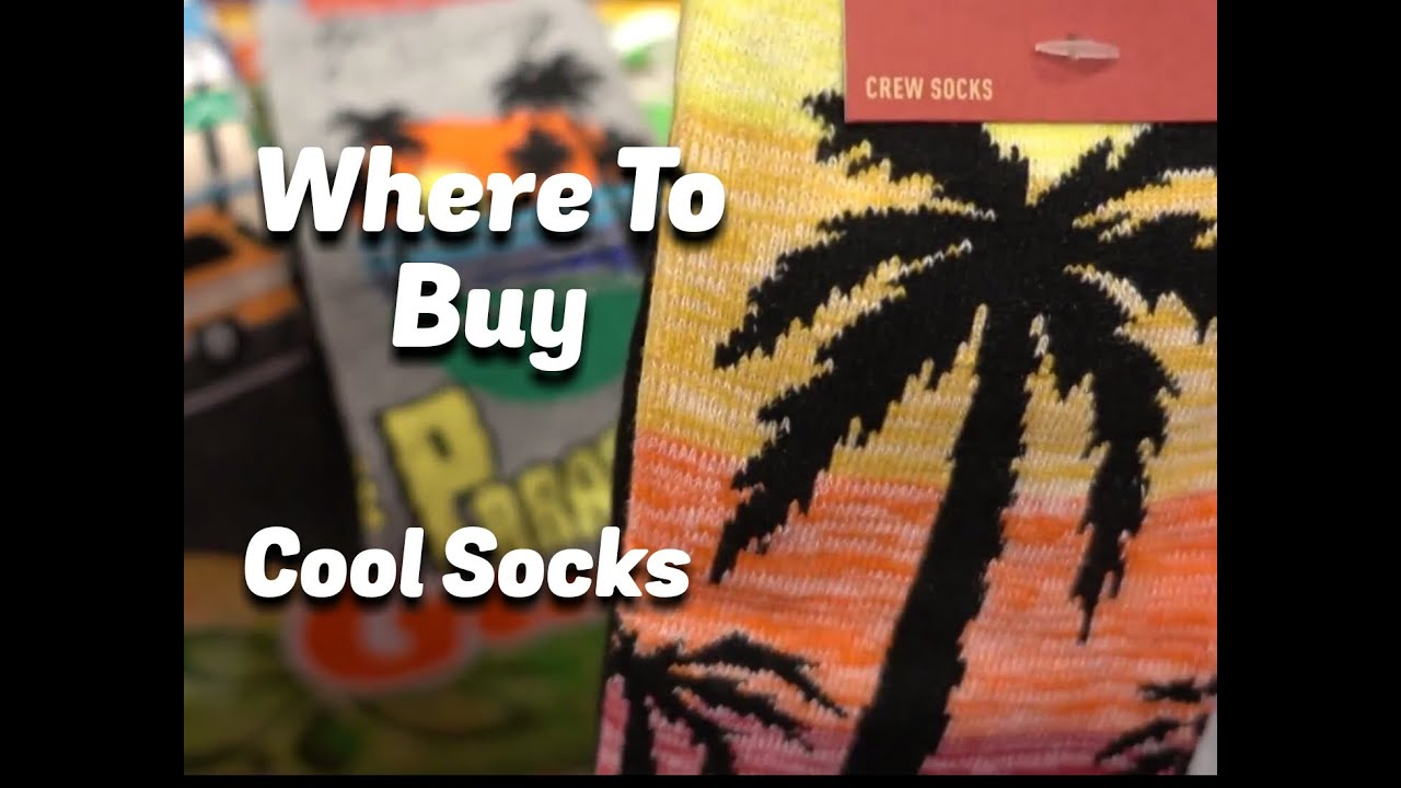 35ac3a9076775 Where to Buy Cool Socks - YouTube