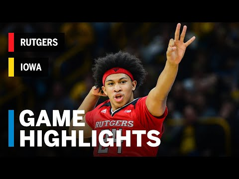 Highlights: Ron Harper Jr. Drops Season-High 27 Points for Win | Rutgers vs. Iowa | March 2, 2019