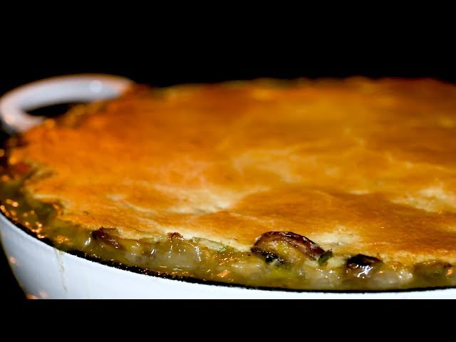 Chicken Pie with Maize Meal Crust