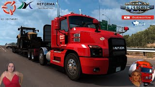"American Truck Simulator (1.38)   Mack Anthem 4x2 & 8x4 chassis by RightLaneGaming Redding California Team Reforma Sierra Nevada v2.2.24 [Best Map] Mega Resurces v2.1.12 Viva Mexico v2.5.7 by Hugoces Mexico Extremo v2.1.16 Trailer Jazzycat Chevy Step Van Pack AI Traffic v1.0 and Municipal Police Traffic Pack v1.0 FMOD ON and Open Windows Next-Gen Graphics USA New Summer Graphics/Weather V1.1 (1.38) by Grimes Test Gameplay ITA + DLC's & Mods https://forum.scssoft.com/viewtopic.php?f=207&t=288183  SCS Software News Iberian Peninsula Spain and Portugal Map DLC Planner...2020 https://www.youtube.com/watch?v=NtKeP0c8W5s Euro Truck Simulator 2 Iveco S-Way 2020 https://www.youtube.com/watch?v=980Xdbz-cms&t=56s Euro Truck Simulator 2 MAN TGX 2020 v0.5 by HBB Store https://www.youtube.com/watch?v=HTd79w_JN4E  #TruckAtHome #covid19italia Euro Truck Simulator 2    Road to the Black Sea (DLC)    Beyond the Baltic Sea (DLC)   Vive la France (DLC)    Scandinavia (DLC)    Bella Italia (DLC)   Special Transport (DLC)   Cargo Bundle (DLC)   Vive la France (DLC)    Bella Italia (DLC)    Baltic Sea (DLC) Iberia (DLC)   American Truck Simulator New Mexico (DLC) Oregon (DLC) Washington (DLC) Utah (DLC) Idaho (DLC) Colorado (DLC)     I love you my friends Sexy truck driver test and gameplay ITA  Support me please thanks Support me economically at the mail vanelli.isabella@gmail.com  Roadhunter Trailers Heavy Cargo  http://roadhunter-z3d.de.tl/ SCS Software Merchandise E-Shop https://eshop.scssoft.com/  Euro Truck Simulator 2 http://store.steampowered.com/app/227... SCS software blog  http://blog.scssoft.com/  Specifiche hardware del mio PC: Intel I5 6600k 3,5ghz Dissipatore Cooler Master RR-TX3E  32GB DDR4 Memoria Kingston hyperX Fury MSI GeForce GTX 1660 ARMOR OC 6GB GDDR5 Asus Maximus VIII Ranger Gaming Cooler master Gx750 SanDisk SSD PLUS 240GB  HDD WD Blue 3.5"" 64mb SATA III 1TB Corsair Mid Tower Atx Carbide Spec-03 Xbox 360 Controller Windows 10 pro 64bit"