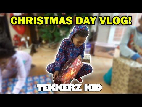 Christmas Day Vlog!! | OPENING PRESENTS!! | Tekkerz Kid