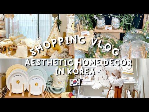 SHOPPING VLOG 😍 BELANJA PERABOT RUMAH AESTHETIC DI KOREA!! 🇰🇷 ORANG KOREA SUKA BANGET TOKO INI!!