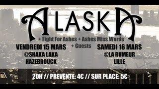 Alaska en concert: 15 mars @Hazebrouck & 16 mars @Lille