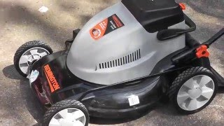 First Pull Start Nearly New Remington Battery Lawn Mower 24 Volt 19